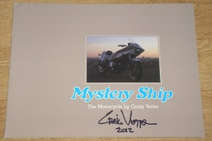 Mystery Ship brochure signed by Craig Vetter